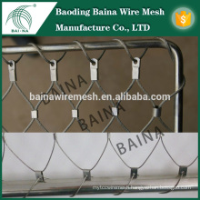 stainless steel security knotted wire rope mesh