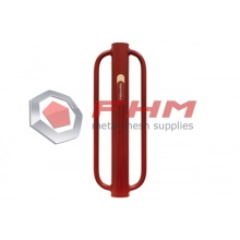 Red T Post Heavy Post Driver Metallo manuale