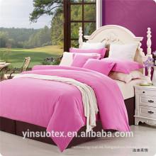Lujo cepillado de tela sólida ropa de cama de color brillante para uso doméstico
