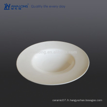 Plaque de jus pure chinoise pure et blanche pour restaurant et hôtel