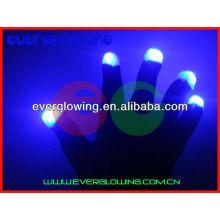 Increíbles guantes flash de LED para fiestas.