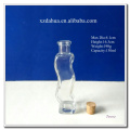 Wave Shaped Clear Glass Wine Bottle with Wooden Stopper