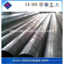 En preto tubos de aço soldados preço por tonelada