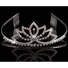 Mode verre Pierre Bridal Crown ornements de cheveux de mariage