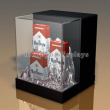 Creative Custom Size Handmade Retail Store Countertop Commercial Acrylic Display Case For Cigarette