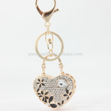 AOU Wholesale high quality diamante heart shape keychain for romantic lovers