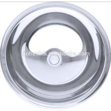 Round Stainless Steel Bathroom Sinks