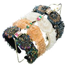 Venda Bandeau Baroque Crystal Korean Fashion Velvet Sponge Hairband Designer Headband Luxury Hair Accessories