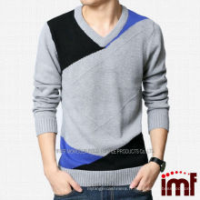 2014 Brilliant Men Pullover Grey Cachemire Hollow Out Sweater