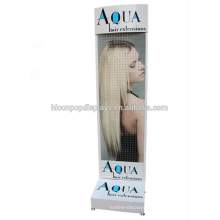 Floorstand Pegboard Hair Salon Stations Display Shelves, Peg Hook Extension Hair Salon Display Shelf