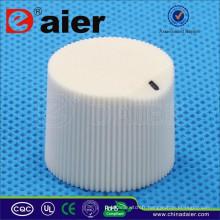 KB19-16 blanc moleté bouton de volume bouton de potentiomètre de glissière de guitare