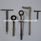 Qingdao threaded coil rod / full thread rod /casting rod with nuts used in the formwork building