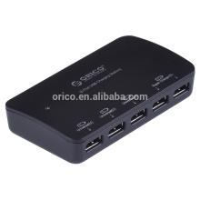 Carregador ORICO DCP-5U para celular, carregador destktop protable
