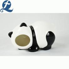 Casa de cerámica impresa linda del hámster de la forma de la panda del precio al por mayor de la venta caliente