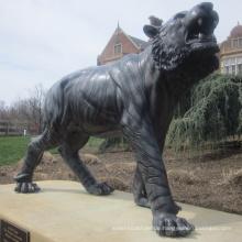 Hochwertige lebensgroße Bronze Tiger Statue