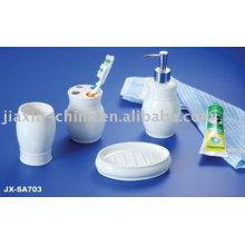 Juego de baño de cerámica de color blanco JX-SA703