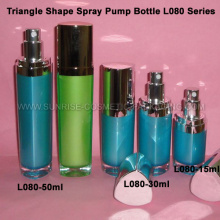15ml 30ml 50ml Triangle Shape Pump Spray Bottle
