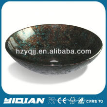 Tempered Glass Basin Black Countertop Art Bathroom Glass Sink