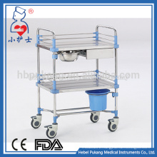 CE/FDA/ISO hospital trolley with baskets