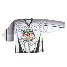 2015 Jersey de encargo barata del hockey sobre hielo de la manera