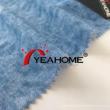 Tecido elástico estampado com padrão estilo jeans Tecido de malha