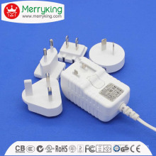 15W Series Interchangeable Universal 15V1a AC/DC Adapter with Us EU Au UK Jp Cn Plug