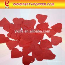 Confeti rosado y rojo del papel de tejido de la forma del corazón para la recepción nupcial
