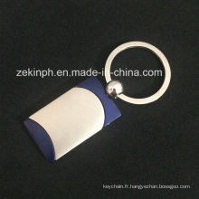 Keychains en métal de souvenir avec la chaîne principale de logo fait sur commande