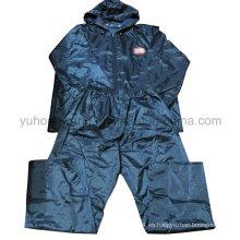 Rainsuit de poliéster, impermeable de PVC