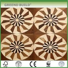 Padrões de piso de madeira de telha de café