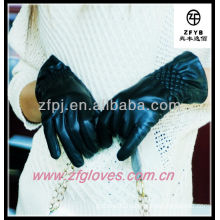 Lady's leather gloves customized print gloves