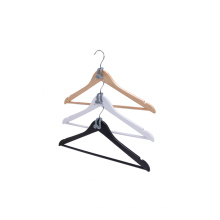 Premium Quality Box Packaging Wooden Hangers Set for Shirt