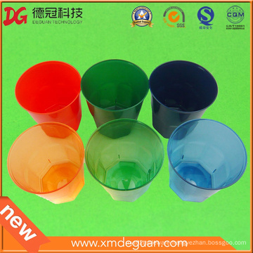 Translucent Color of Water & Wine PS Plastic Glass