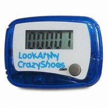 Promotional Single Function Pedometer with Large Logo Space