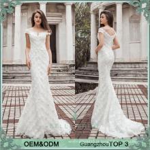 Elagant estilo branco com vestido de festa de noiva vestido vestido de casamento sereia