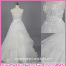 WD6019 Quality fabric heavy handmade export quality designer wedding gown bridal church wedding dress