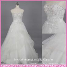 WD6019 Qualidade tecido pesado artesanato exportação designer de qualidade vestido de noiva vestido de noiva igreja casamento