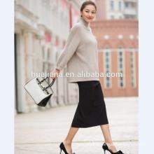 chandail de manches de chauve-souris de cachemire de la mode des femmes