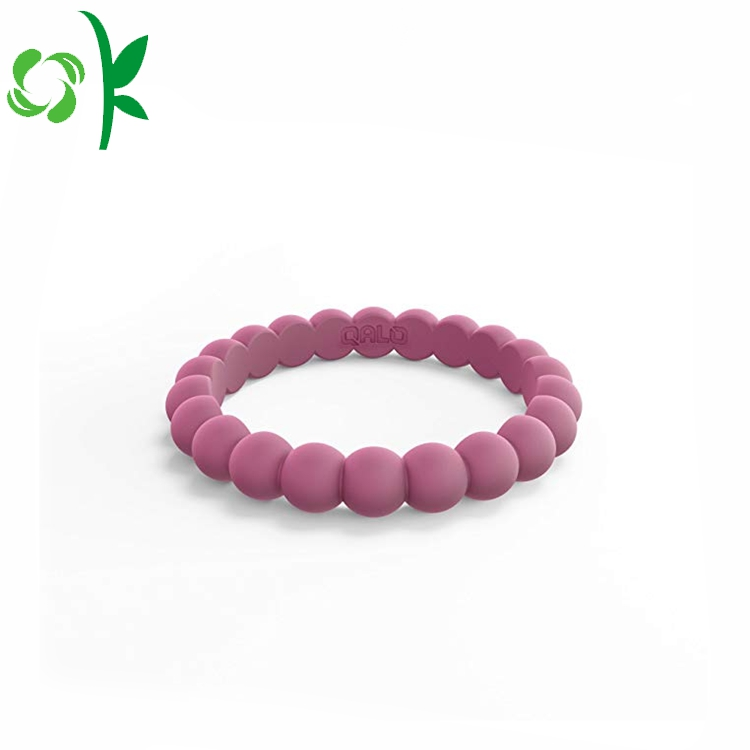 Red Bead Silicone Ring