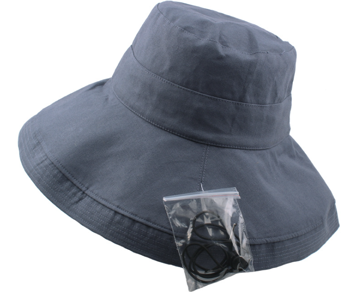 Broad Brim Bucket Hat Navy