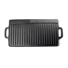 Placa de plancha de barbacoa / filete de hierro fundido a medida / placa reversible
