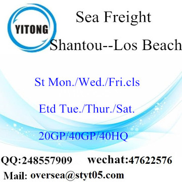 Shantou Port Sea Freight Shipping to Los Beach
