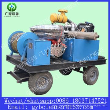 Diesel 110kw dreno tubulação arruela água de alta pressão jato de limpeza de esgoto