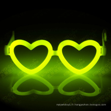 Holloween, Noël et Party Favor Fantastic Heart Shape Glow Stick Lunettes
