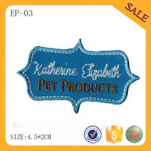 El remiendo bordado ropa del logotipo de la letra EP-03