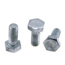 Hot galvanized DIN933 Full thread Carbon steel   DIN931 half threaded hex bolt