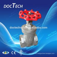 """2"""" puerta válvula acero inoxidable SUS SS 316 CF8M resistente atornillado final hecho en China"""
