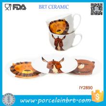 Service de vaisselle personnalisé Set 8PCS Cup & Plate Porcelain