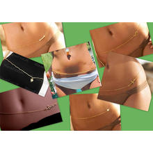 NUEVAS cadenas atractivas CALIENTES CALIENTES del vientre de la joyería del cuerpo de la cadena de la cintura de la manera del bikiní