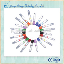 Disposable medical tube colors of blood tests